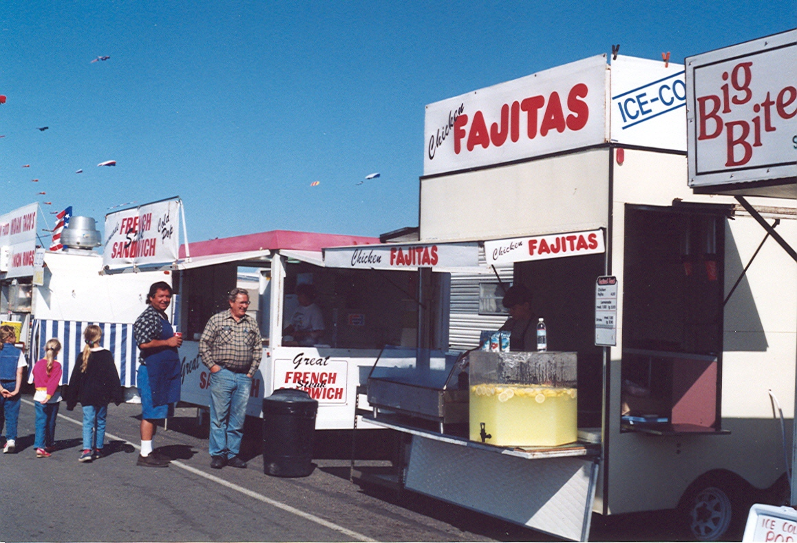 food booths at festival