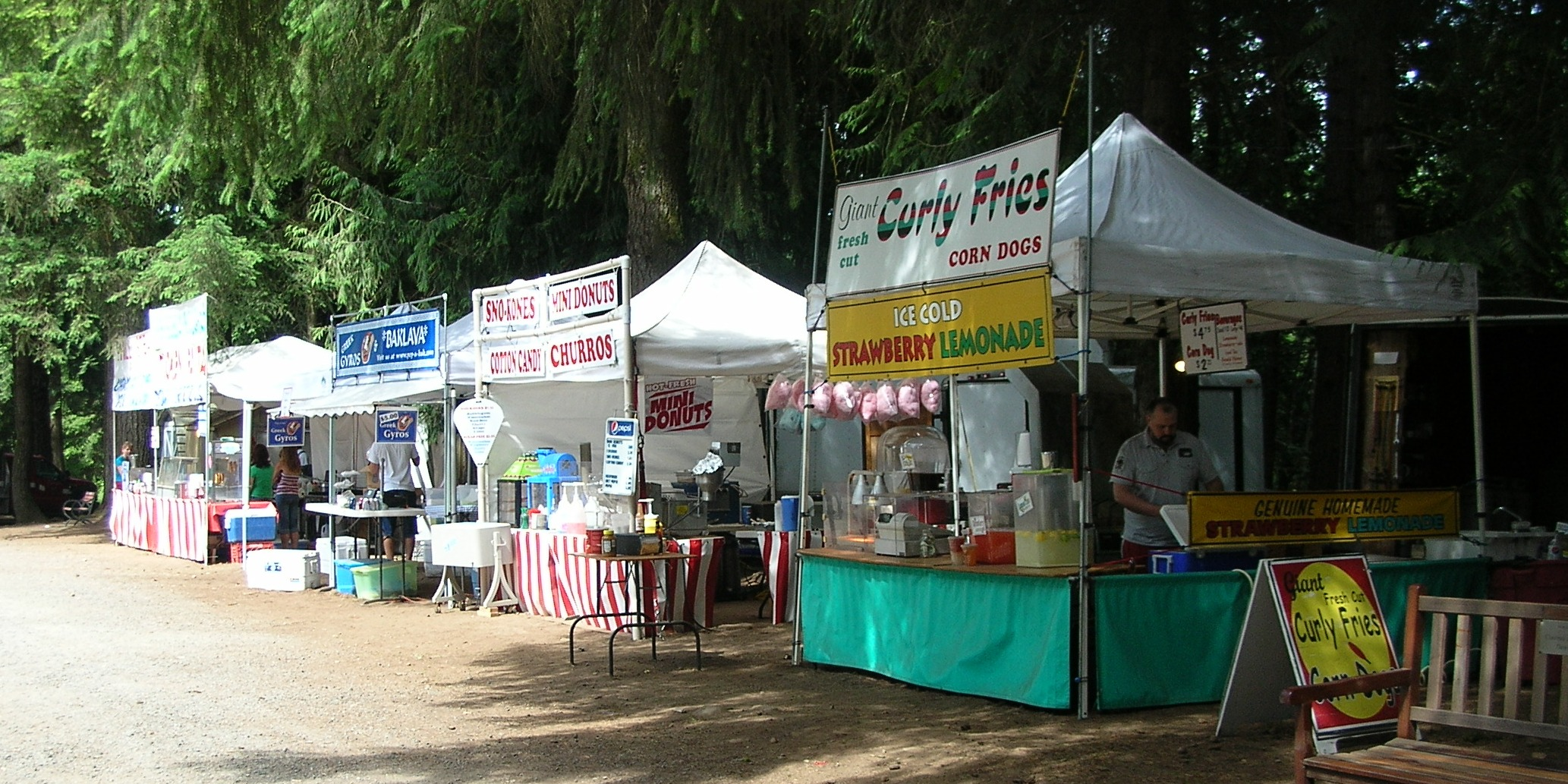 small concession tents at small festival & amboy2011 | Fair Food Food Carts and the Food Concession Business